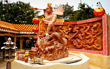 Thailand, Khon Kaen, Bueng Kaen Nakhon, Chinese mythical shrine