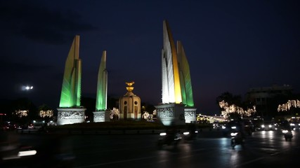 Stock Video Footage 1920x1080 HDV Democracy Monument in Bangkok.