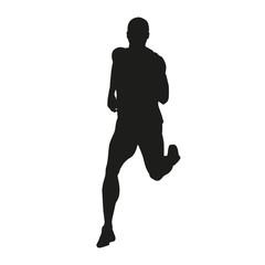 Vector runner silhouette