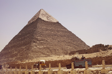 Egypt, Giza, Picture of Khafra's Pyramid
