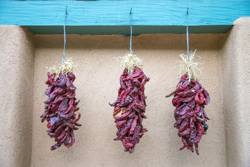 View of Dried Chilies