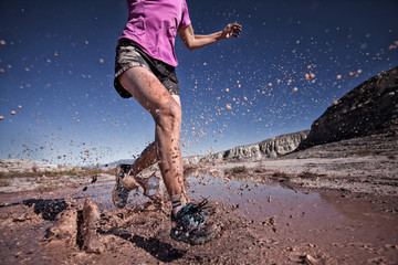 USA, Colorado, Woman trail running