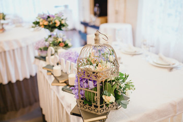 table decorated for a wedding