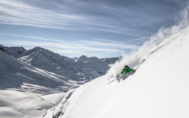 Austria, Freeride skier downhill skiing