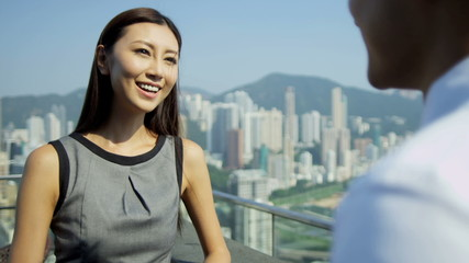 Meeting Asian Chinese Advertising Executives Downtown Rooftop