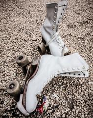 USA, Virginia, Loudoun County, Leesburg, Old roller skates, close-up