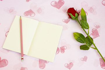Vintage story in love,Write a love story down in your notebook