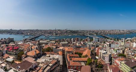 Panorama of Istanbul and Bosphorus