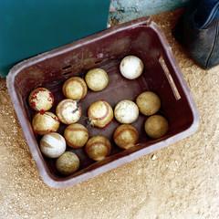 Cuba, Santiago de Cuba, Baseball balls in box
