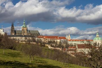 Blick zum Hradschin in Prag