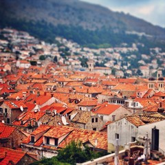 Croatia, Dubrovnik, View of city rooftops