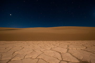 USA, California, Sand and stars in Death Valley