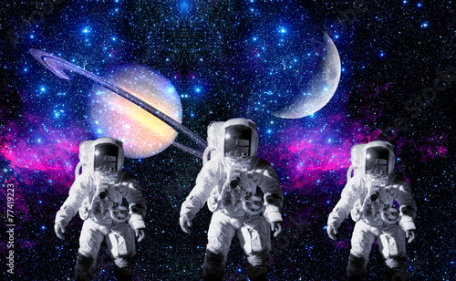 Astronauts Space Planet Moon - 77419223