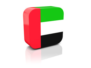 Square icon with flag of united arab emirates