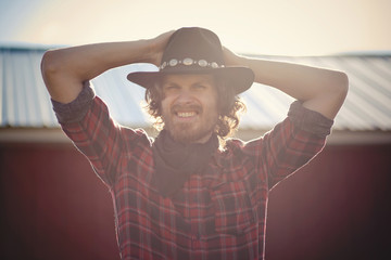 Portrait of modern day cowboy