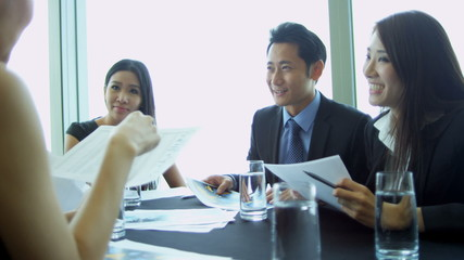 Group Meeting Young Ethnic Advertising Managers