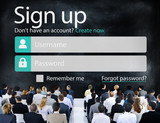 Sign Up Register Joining Online Internet Web Concept