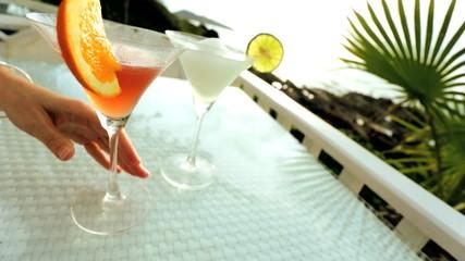 Cocktail drinks tropical sun Island