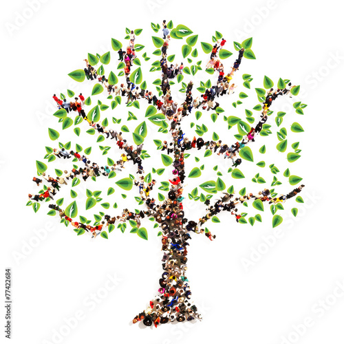 Family tree. People in the form of a tree, family tree concept - 77422684