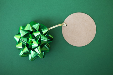 Green Bow And Tag