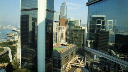 Time lapse view Downtown Hong Kong, China
