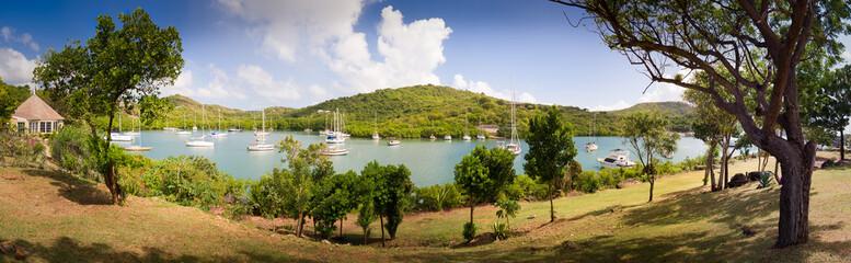 Antigua and Barbuda, Antigua, English Harbor, View of Nelson's Dockyard
