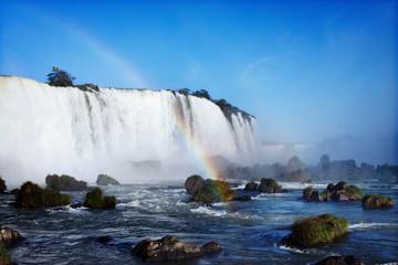 Brazil, Panama State, View of Iguazu waterfall