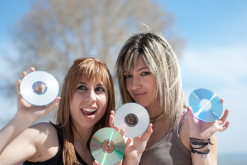 Cd's and dvd's full of good music and data