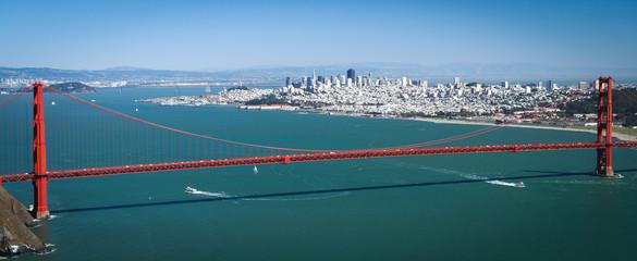 USA, California, Golden Gate bridge view on San Francisco
