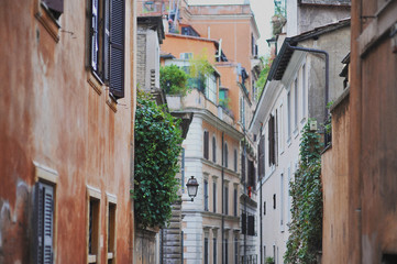Italy, Rome, Alley in city