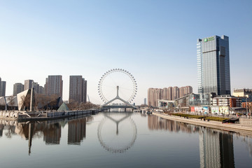China, Tianjin, View to Eye of Tianjin