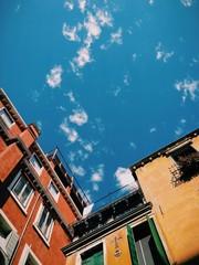 Italy, Venice, Sky over buildings