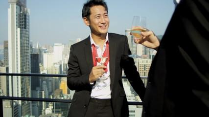 Multi Ethnic Corporate Business Reward Drinks Outdoors