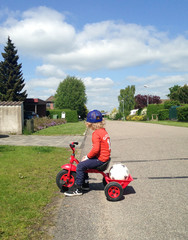 Denmark,  Boy  (2-3) on bike