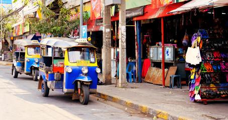 Thailand, Khon Kaen City, Tuk Tuk Taxi