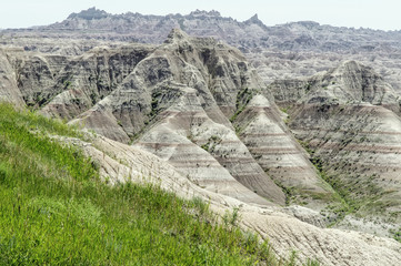 USA, South Dakota, Perkins County, Badlands, Wilderness in American Midwest