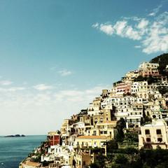 Italy, Campania, Positano, View of city hill
