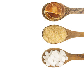 Top view of  sugar  isolated on white