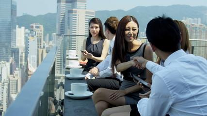 Team Business Associates News Success Rooftop Restaurant