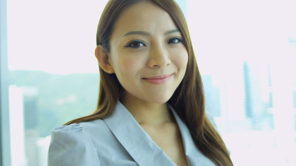 Close Up Female Asian Chinese Finance Consultant