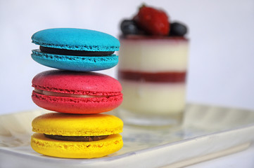 Indonesia, Jakarta, Close-up of macaroons