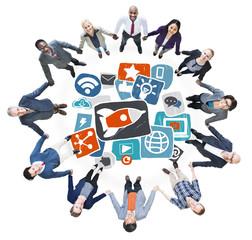 Media Social Network Internet Technology Concept