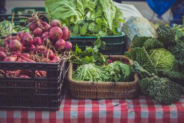 Spain, Portugalete, Vegetables on local farmer market
