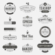 Coffee Retro Vintage Labels Logo design typography - 77426683