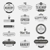 Coffee Retro Vintage Labels Logo design typography - 77426683