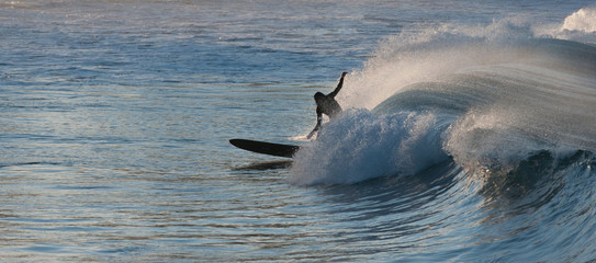 Australia, New South Wales, Sydney, Surfer in afternoon