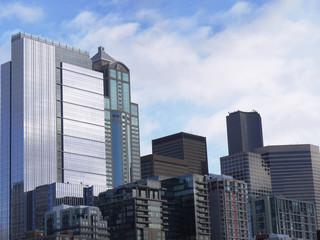 USA, Seattle, Part of city skyline