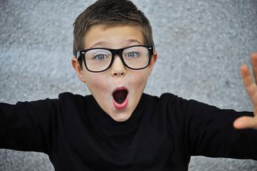 Croatia, Smart boy with glasses