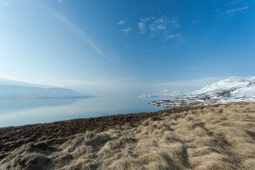 Iceland, Eyjafjordur, View of majestic landscape