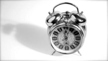 Beautiful old silver clock